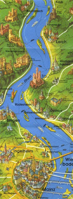 Rhine River In Germany Travel Photos By Galen R Frysinger - Rhine valley germany map